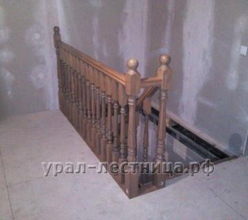 Г-образная лестница в д. Щербаковка